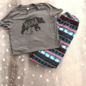 Mama Bear Winter Pajamas. S
